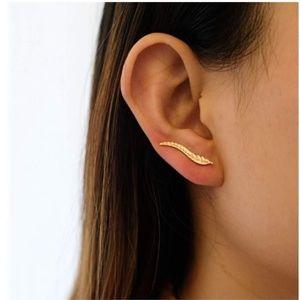 Leaf Climber Earrings